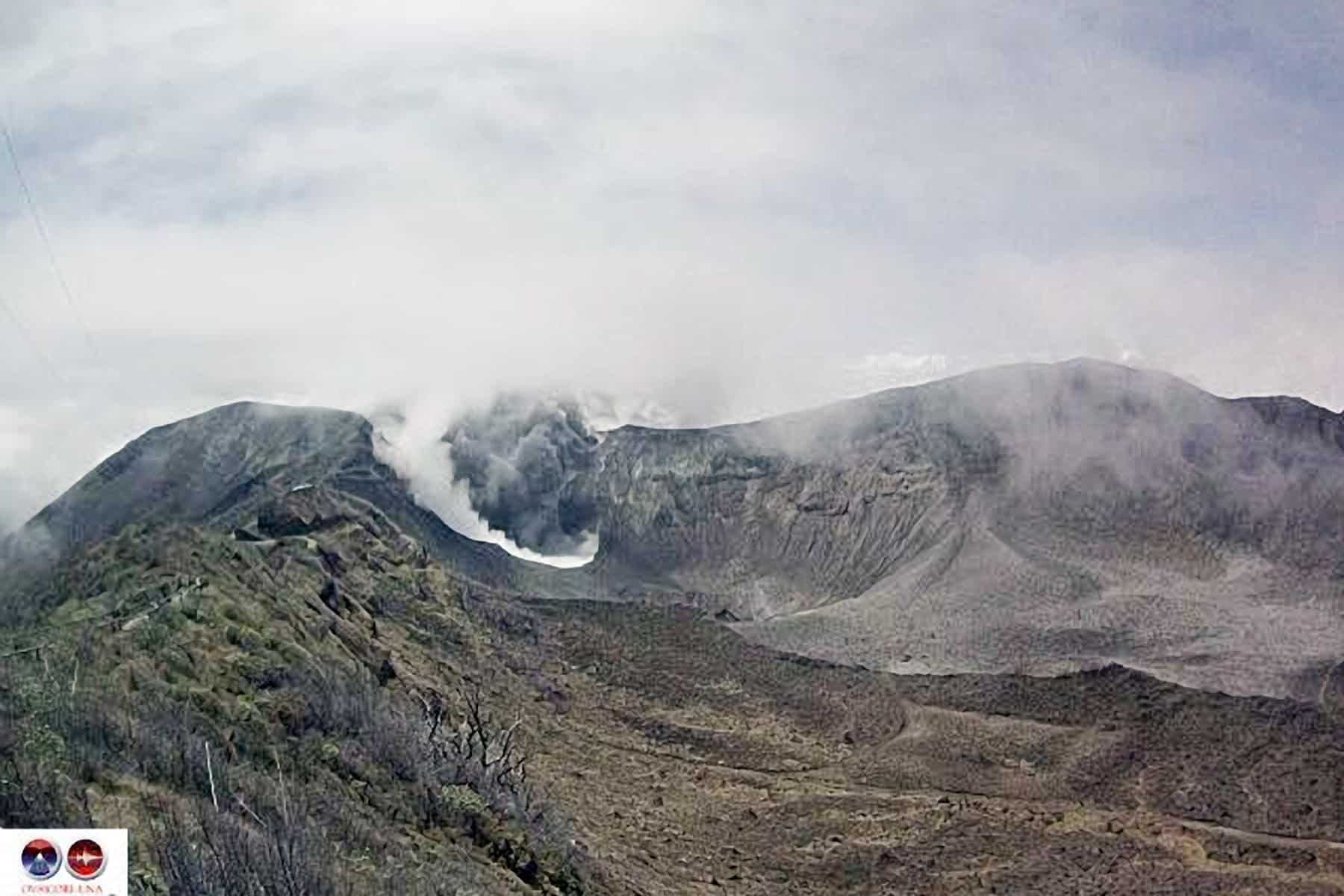 Explotions at Turrialba Volcano, March 8, 2015.