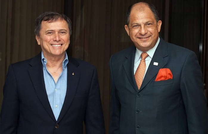 Franklin Chang Díaz and President Luis Guillermo Solís, May 20, 2014.
