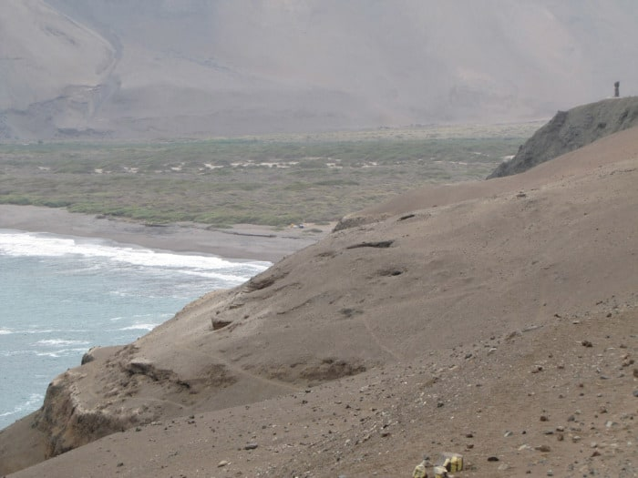 The Camarones Valley in northern Chile where the Chinchorro people lived 7,000 years ago.