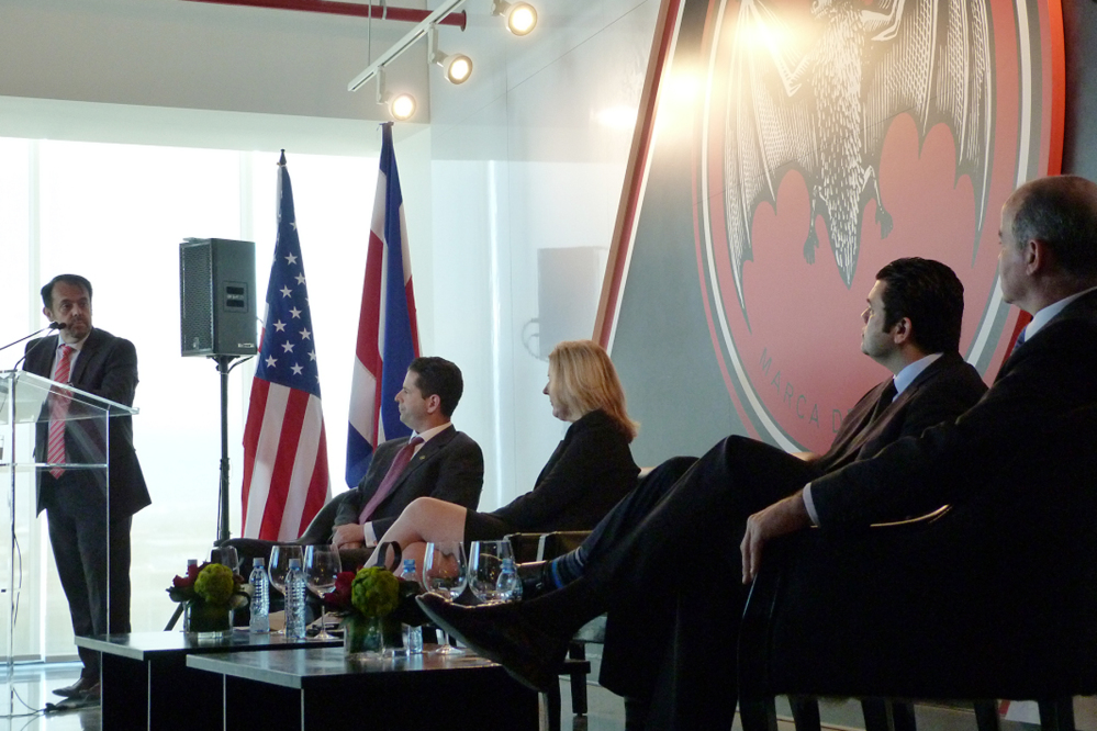 Opening of Bacardi's shared service center in Costa Rica, March 11, 2015.
