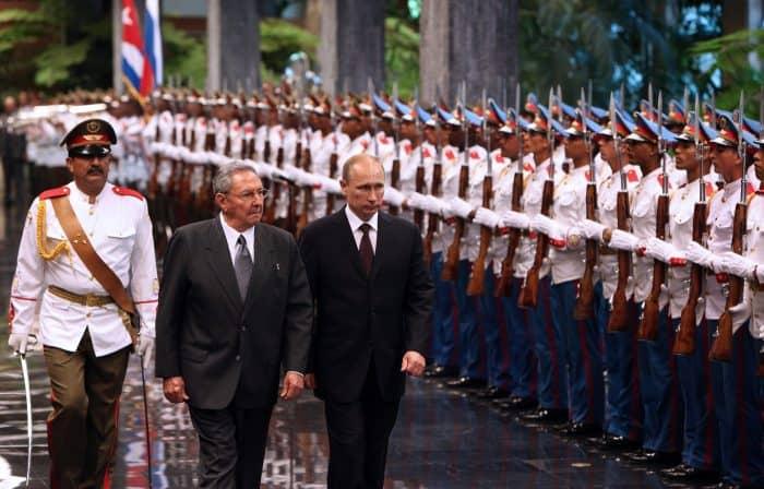 Russian President Vladimir Putin and Cuban counterpart Raúl Castro in Havana.