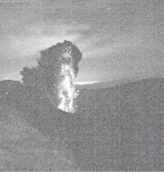 A still image from Turrialba Volcano.