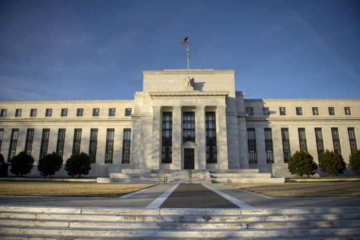 A view of the U.S. Federal Reserve.