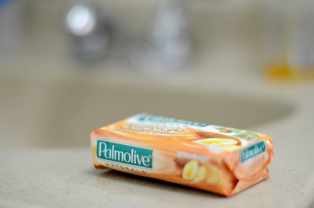 A bar of Palmolive soap.