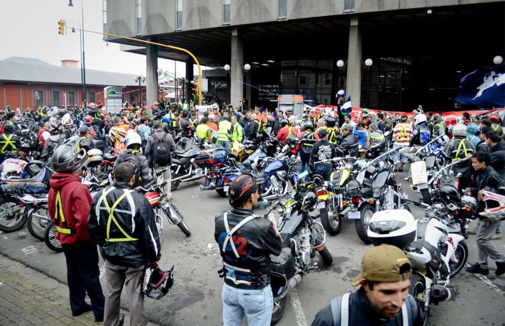 Motorcyclist protest