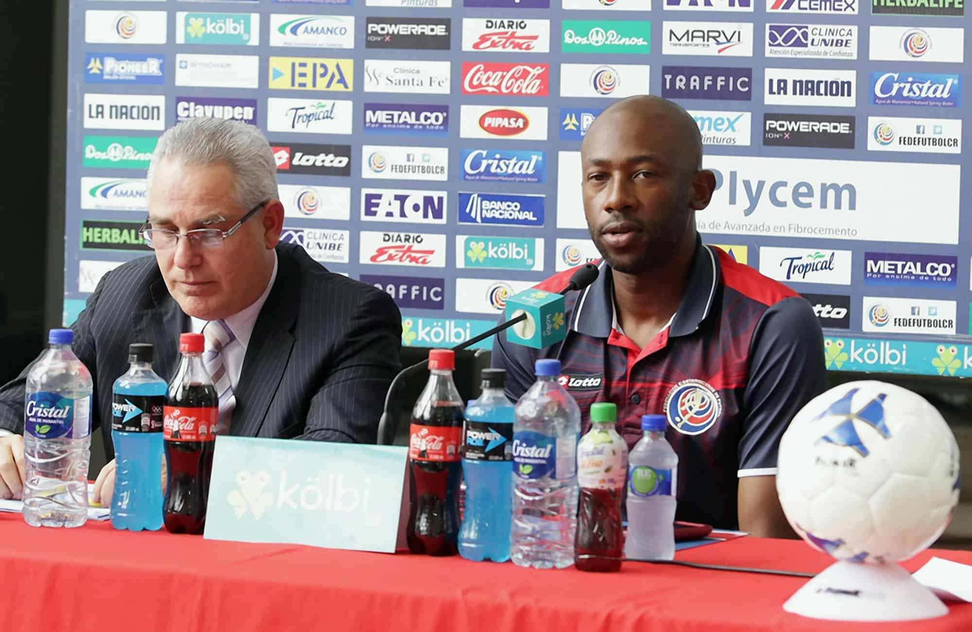 Costa Rica's Head Coach Paulo César Wanchope reads his first roster as La Sele's official head coach, March 18, 2015.