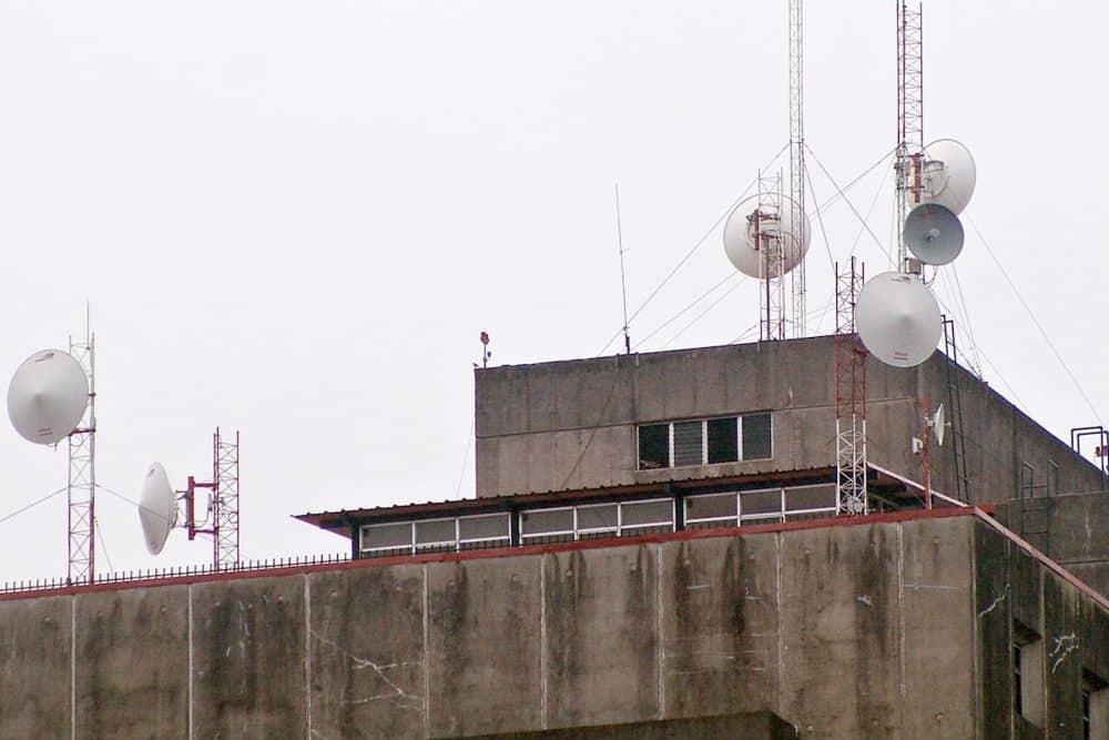 Telecommunications towers in San José