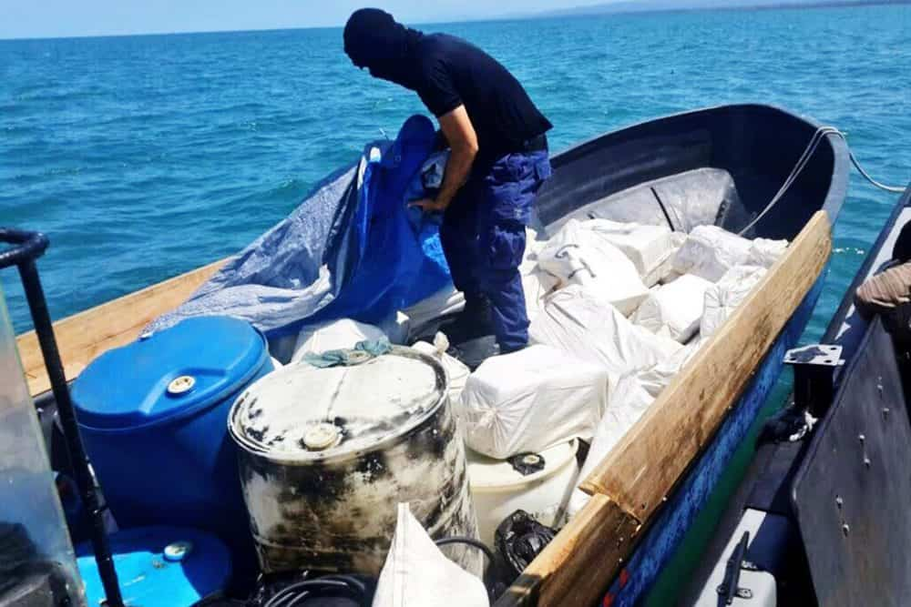 Drug seizures at the South Pacific. March 2015