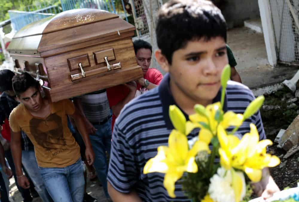 A funeral for the late journalist Jorge Torres, who was kidnapped and killed in Mexico in 2014.