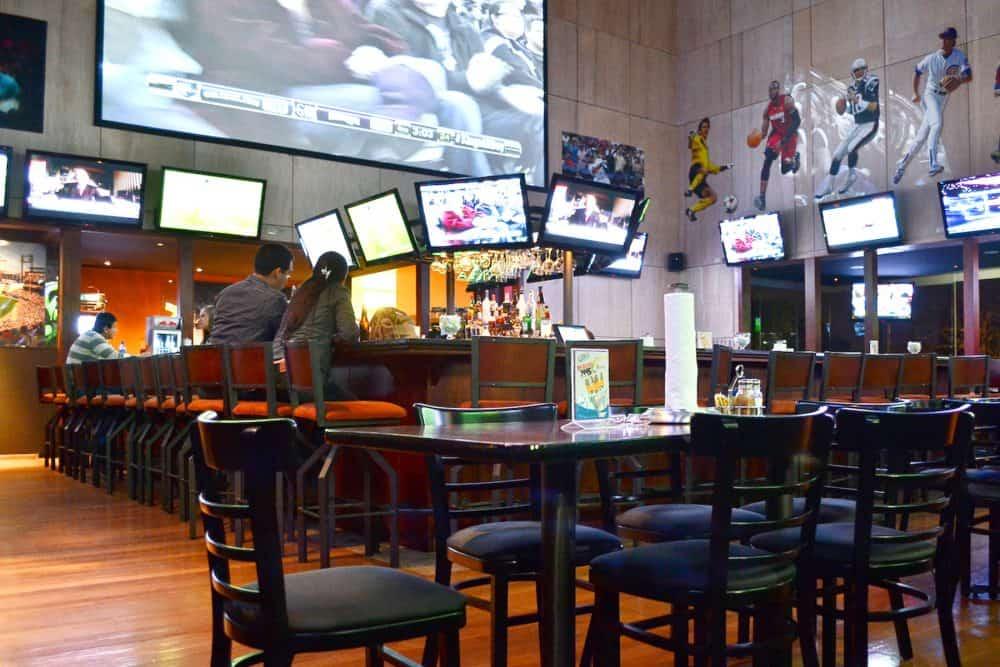An empty bar.