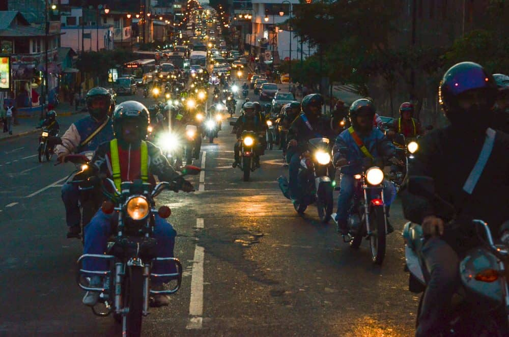 Dozens of motorcyclists gathered Wednesday in front of the National Insurance Institute (INS) in Barrio Amón and rode from there to the Legislative Assembly to protest proposed regulations prohibiting more than one person on a bike.
