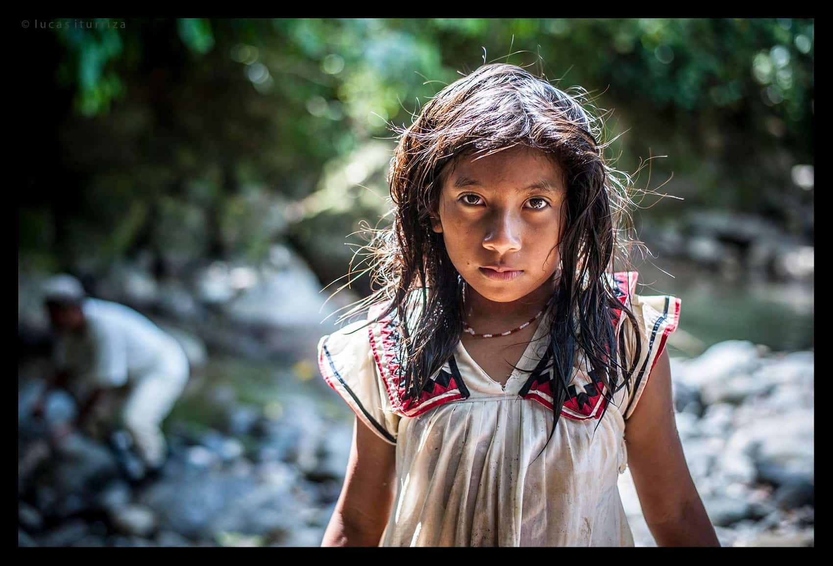 A portrait photo of a Costa Rican girl.