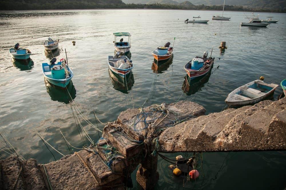 Fishing boats in the Gulf of Nicoya.