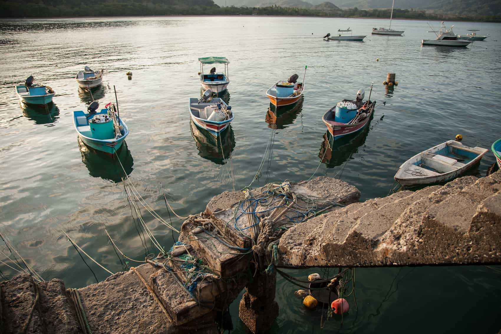 Fishing boats in the Gulf of Nicoya.