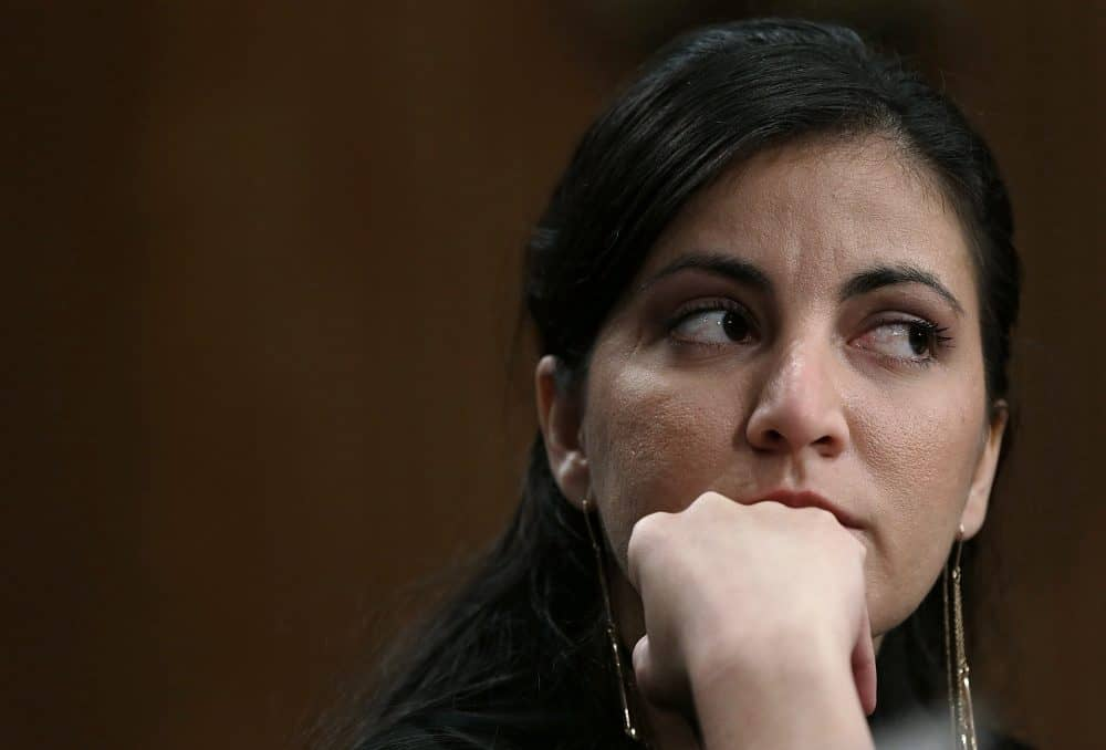 Rosa María Payá, of the Cuban Christian Liberation Movement, testifies during a U.S. Senate Foreign Relations Western Hemisphere Subcommittee hearing.