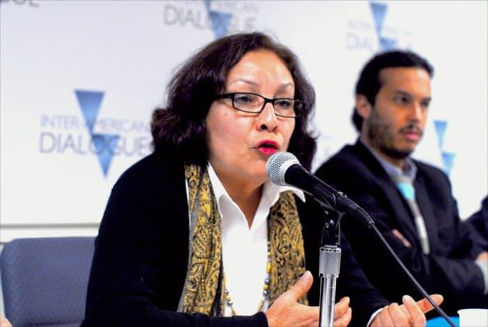 Sofía Montenegro Alarcón, political coordinator of the Movimiento Autónomo de Mujeres de Nicaragua.