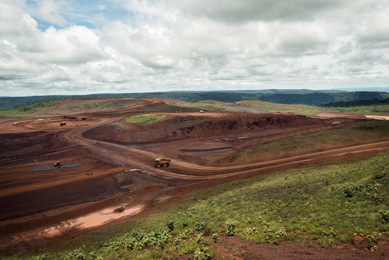 The site of the S11D mining project in Brazil, due to start operating next year. April 13, 2015.