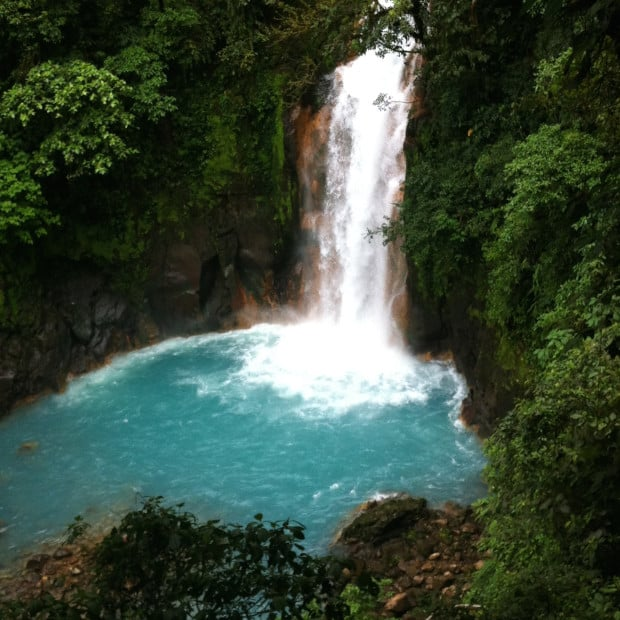 The Río Celeste Waterfall: You can find bigger falls in Costa Rica, but you won't find bluer water.