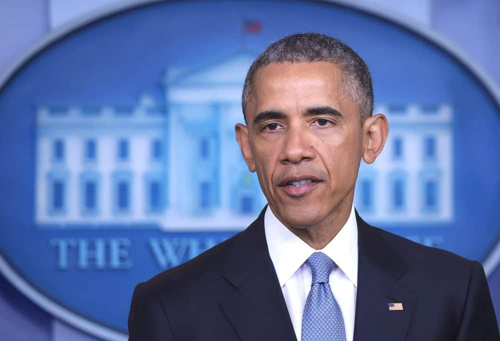 U.S. President Barack Obama speaks during a press conference at the White House on April 23, 2015 in Washington, DC. The White House admitted that a January U.S. operation against an Al Qaeda compound near the Afghan-Pakistan border killed one American and one Italian hostage, along with an American member of the jihadist group.