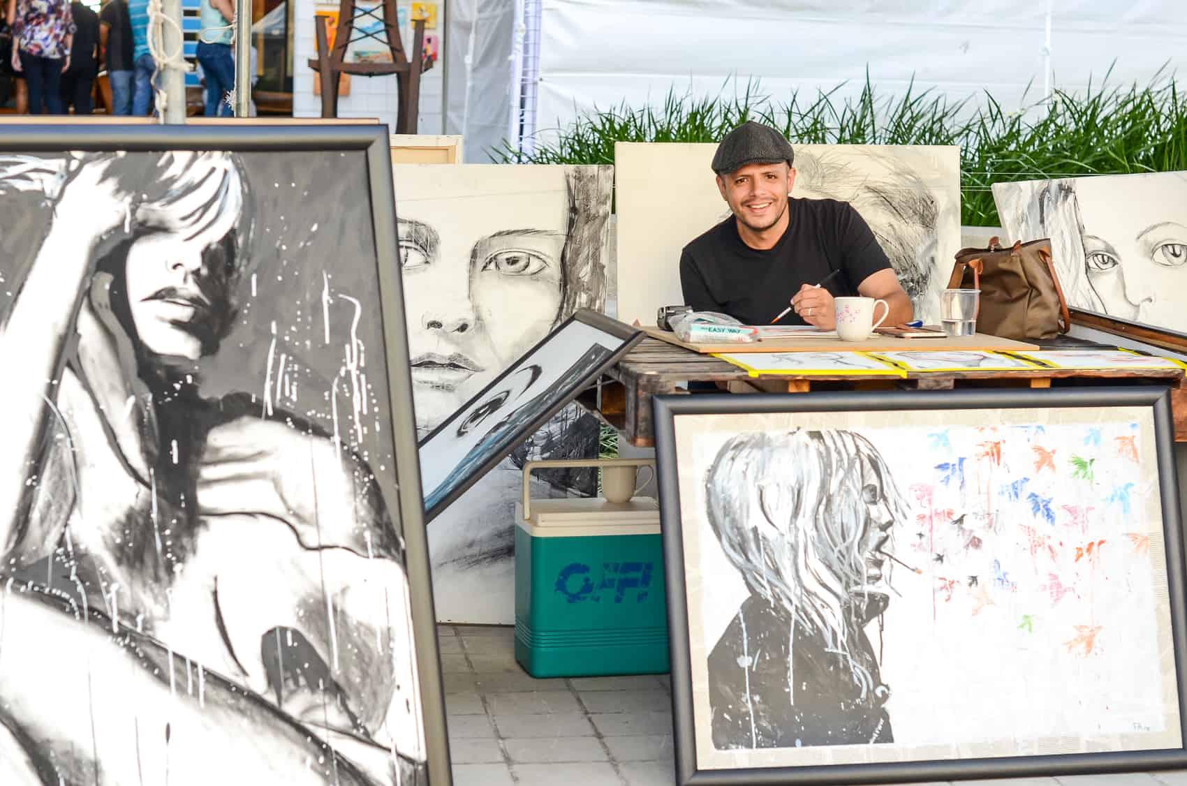 Painter Felipe Asencio specializes in portraits.