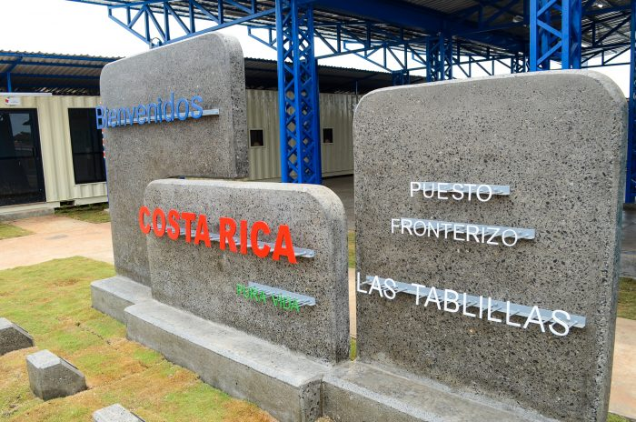 The new Costa Rican customs offices at the Las Tablillas border crossing, near the town of Los Chiles in the province of Alajuela. The new border will be inaugurated May 2, 2015.