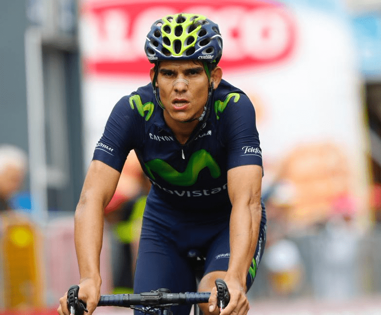 Andrey Amador competing in the Giro d'Italia