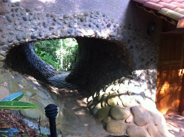 A tunnel at La Cusinga Lodge.