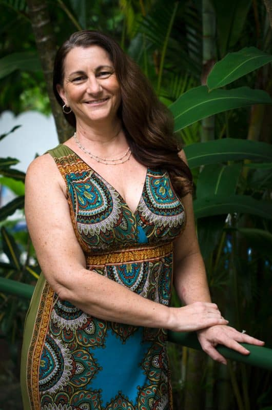 Paige Cain, one of the new owners of the Hotel Mono Azul in Manuel Antonio.