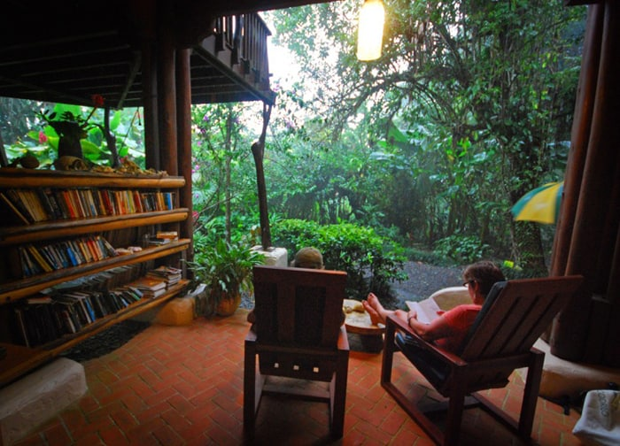Rainy afternoon? Curl up with a book.