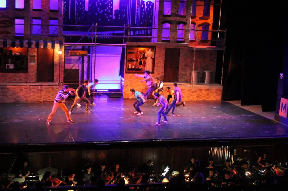 """When you're a Jet you're a Jet: The cast of """"West Side Story"""" mixes battle with ballet, May 2015."""