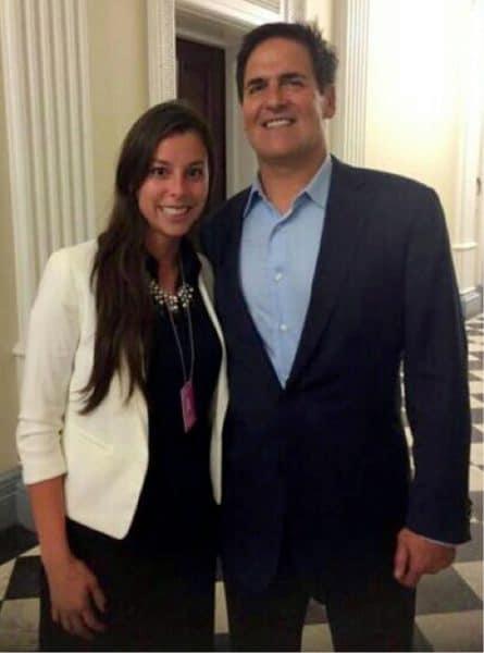 Gabriela Umaña and Mark Cuban