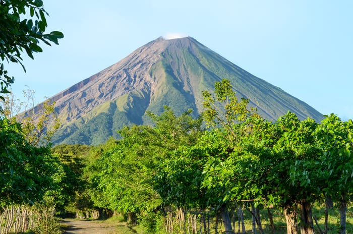 One of two volcanoes on Ometepe, the island in Lake Nicaragua.