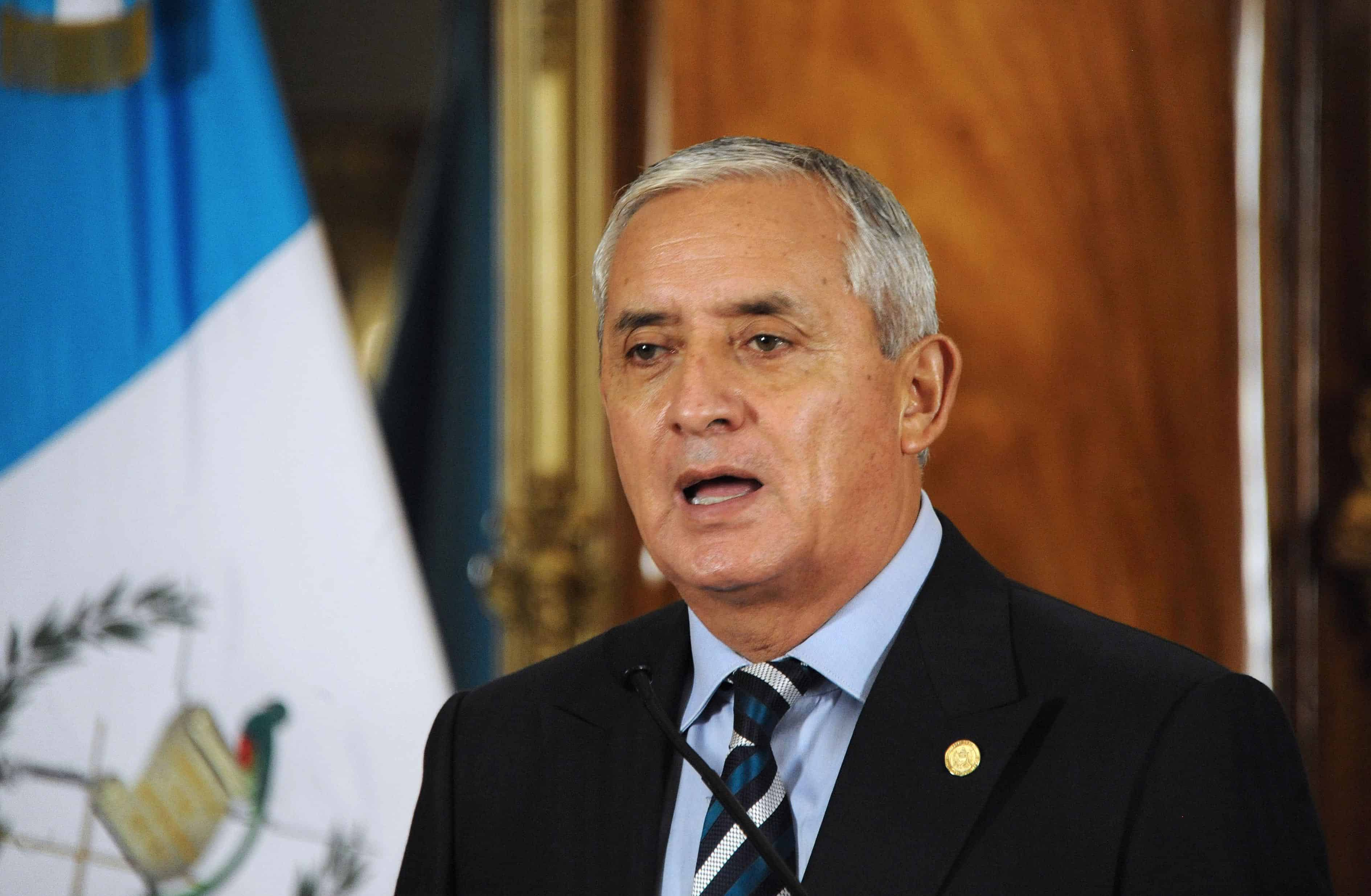 Guatemalan President Otto Pérez Molina offers a press conference at the presidential palace in Guatemala City on May 21, 2015.