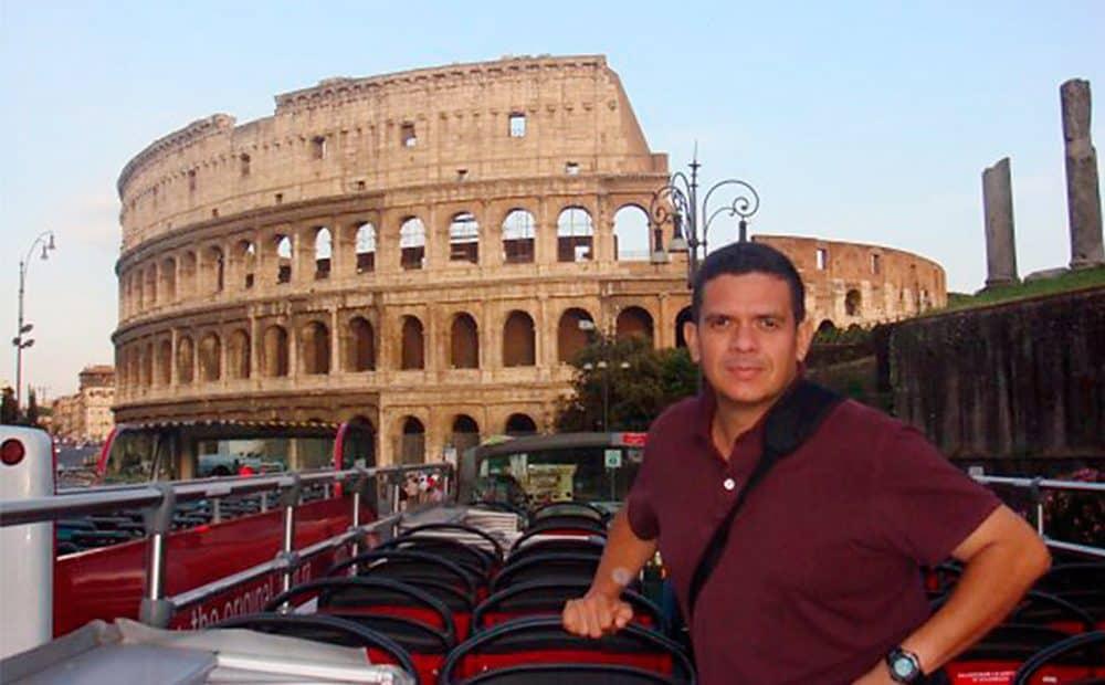 An undated picture taken in Rome of Fabio Lobo.