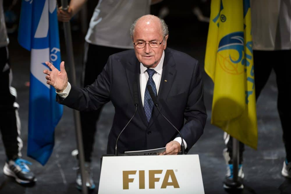 FIFA President Sepp Blatter speaks during the opening ceremony of the 65th FIFA Congress in Zurich.
