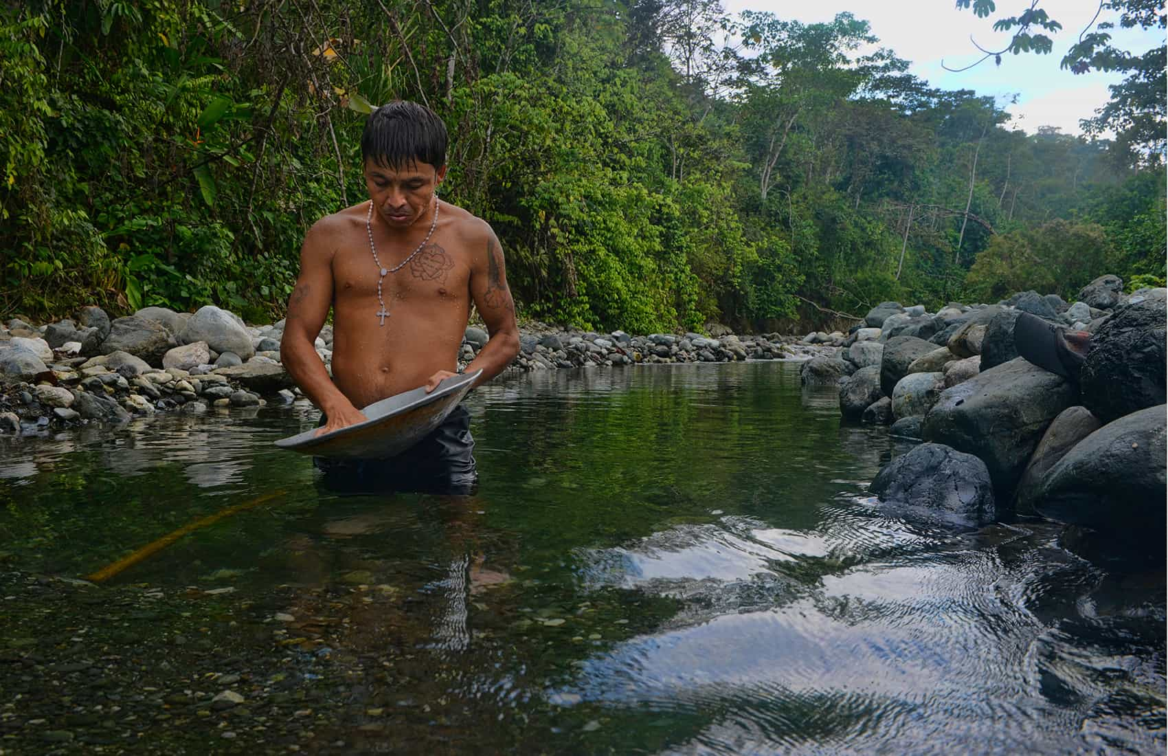 """""""Edgar"""" says he's been inside Corcovado National Park on the Osa Peninsula to mine gold many times. He's been caught twice. A third time could result in an eight-year prison sentence, but he says the money's worth the risk."""