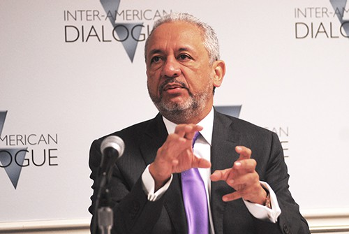 Ricuarte Vasquez, General Electric's president and CEO for Latin America and the Caribbean, speaks at Washington's Inter-American Dialogue on bringing down the region's sky high electricity costs.
