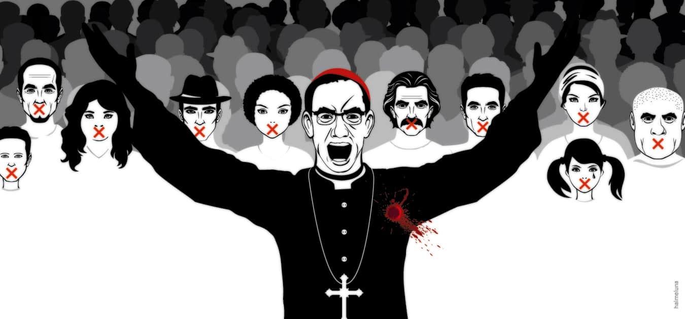 Illustration of Óscar Romero.