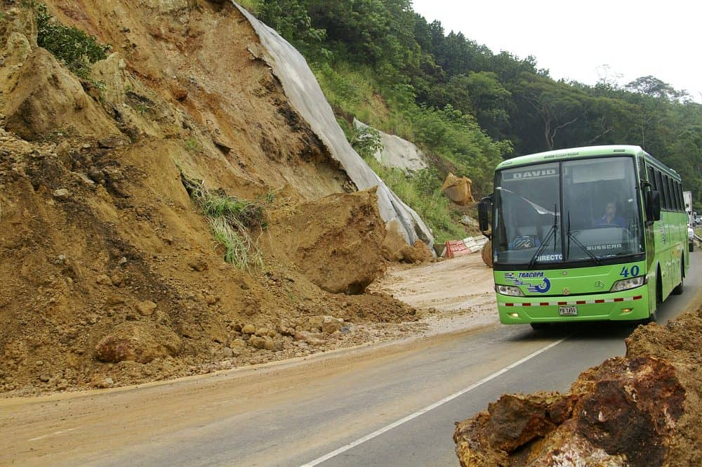 A mudslide at the Route 27 in October 2011.