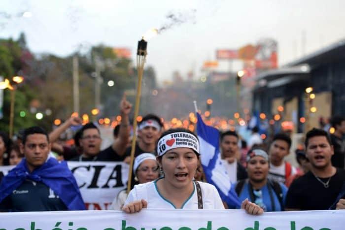 Honduras protest   MACCIH