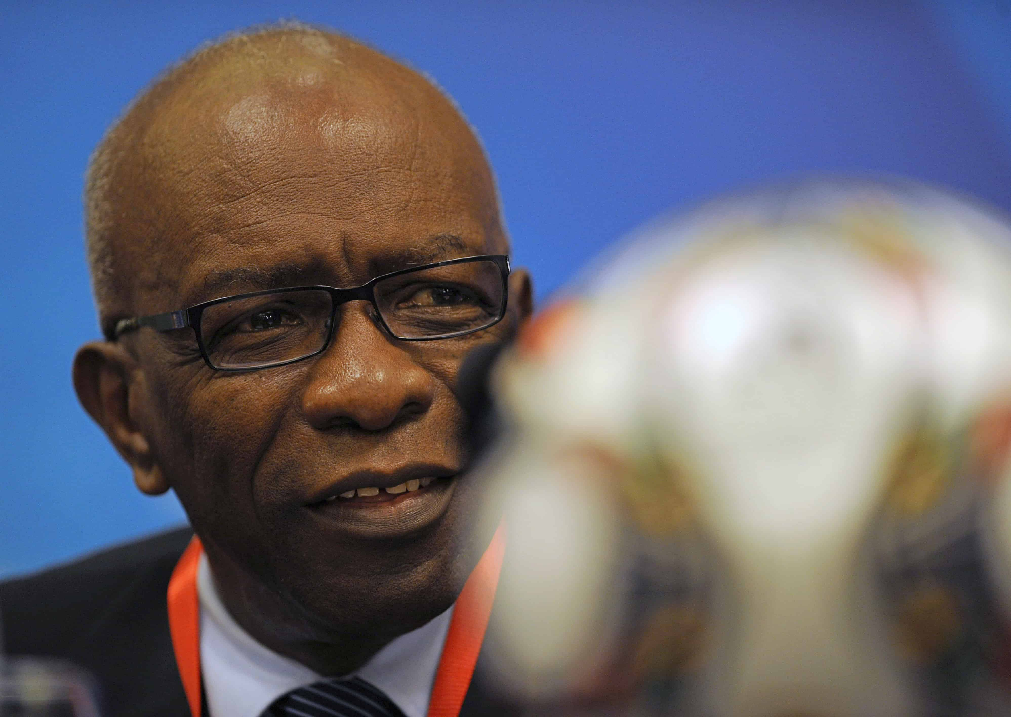 Jack Warner, former chairman of FIFA's organizing committee, participates in a press conference in Cairo on Sept. 23, 2009.