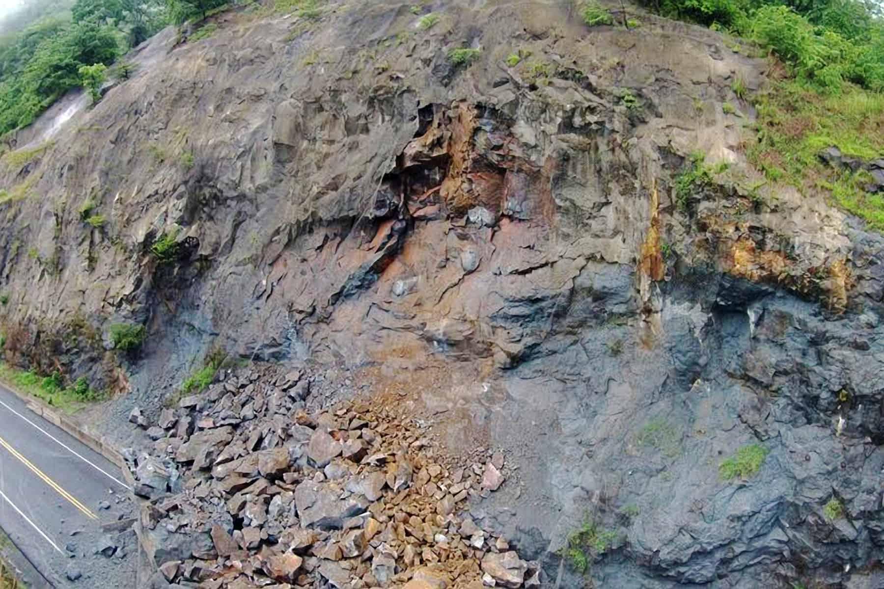 Landslides on Route 27, June 3 2015