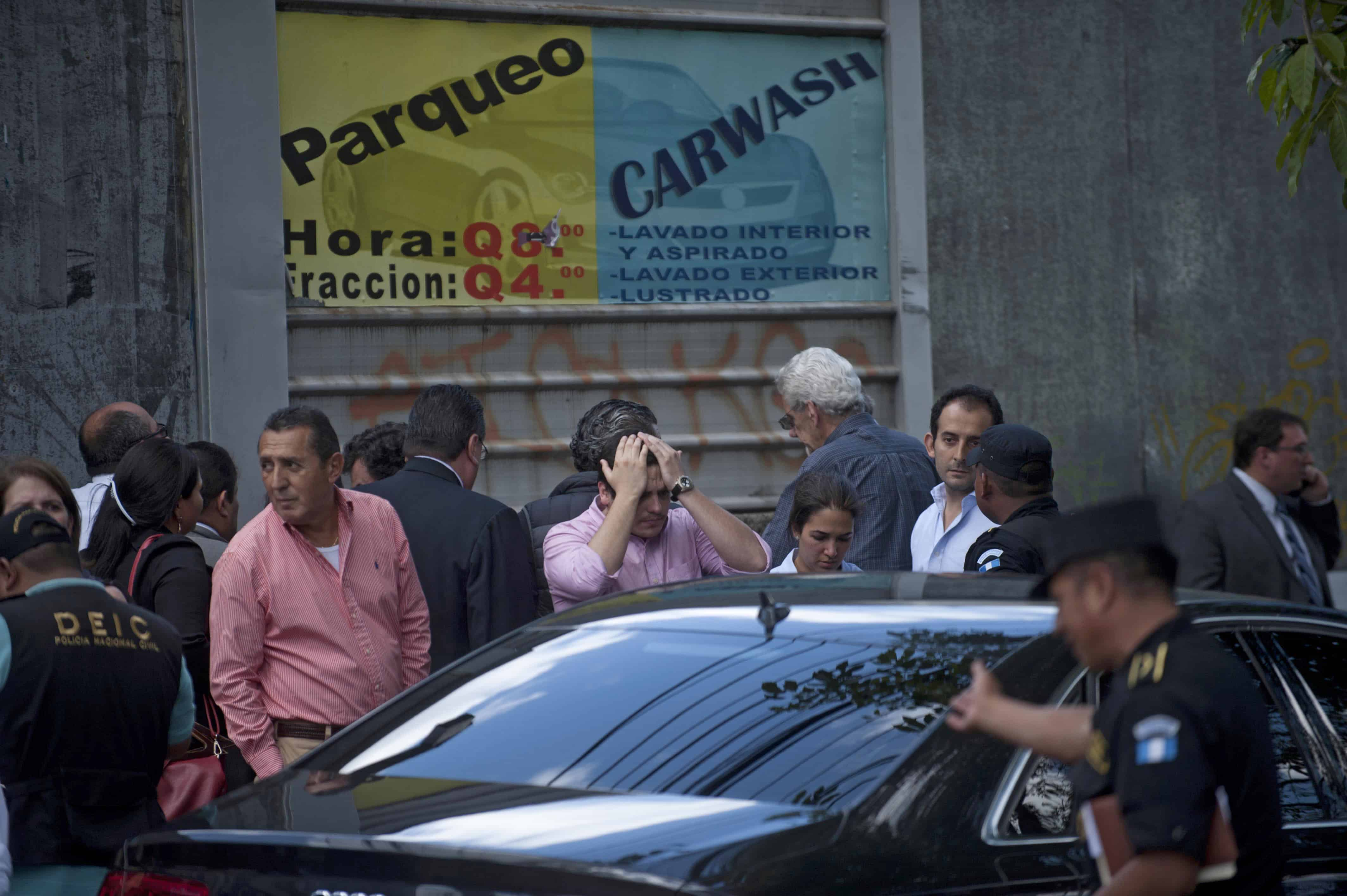 Relatives arrive at the crime scene after Francisco Palomo, an attorney for Guatemala's former dictator Efraín Ríos Montt, was shot dead.
