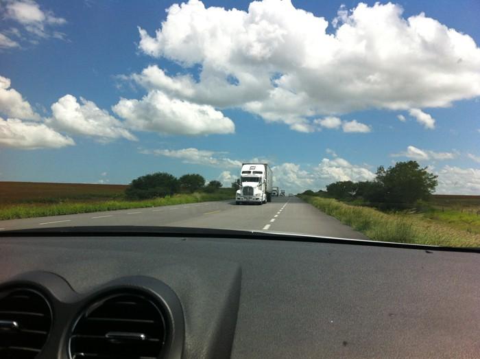 Life in the half-lane.