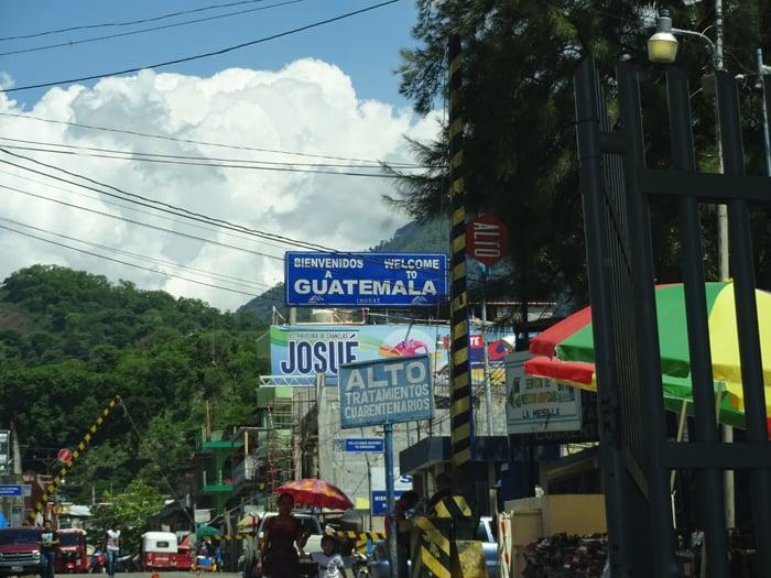 Adios, Mexico, hola, Guatemala.