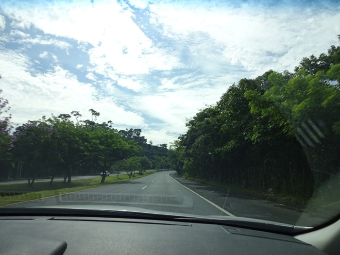The road out of El Salvador.