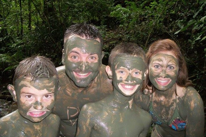 Discovery Horseback Tours provides many opportunities for family fun, including a visit to a jungle spa.