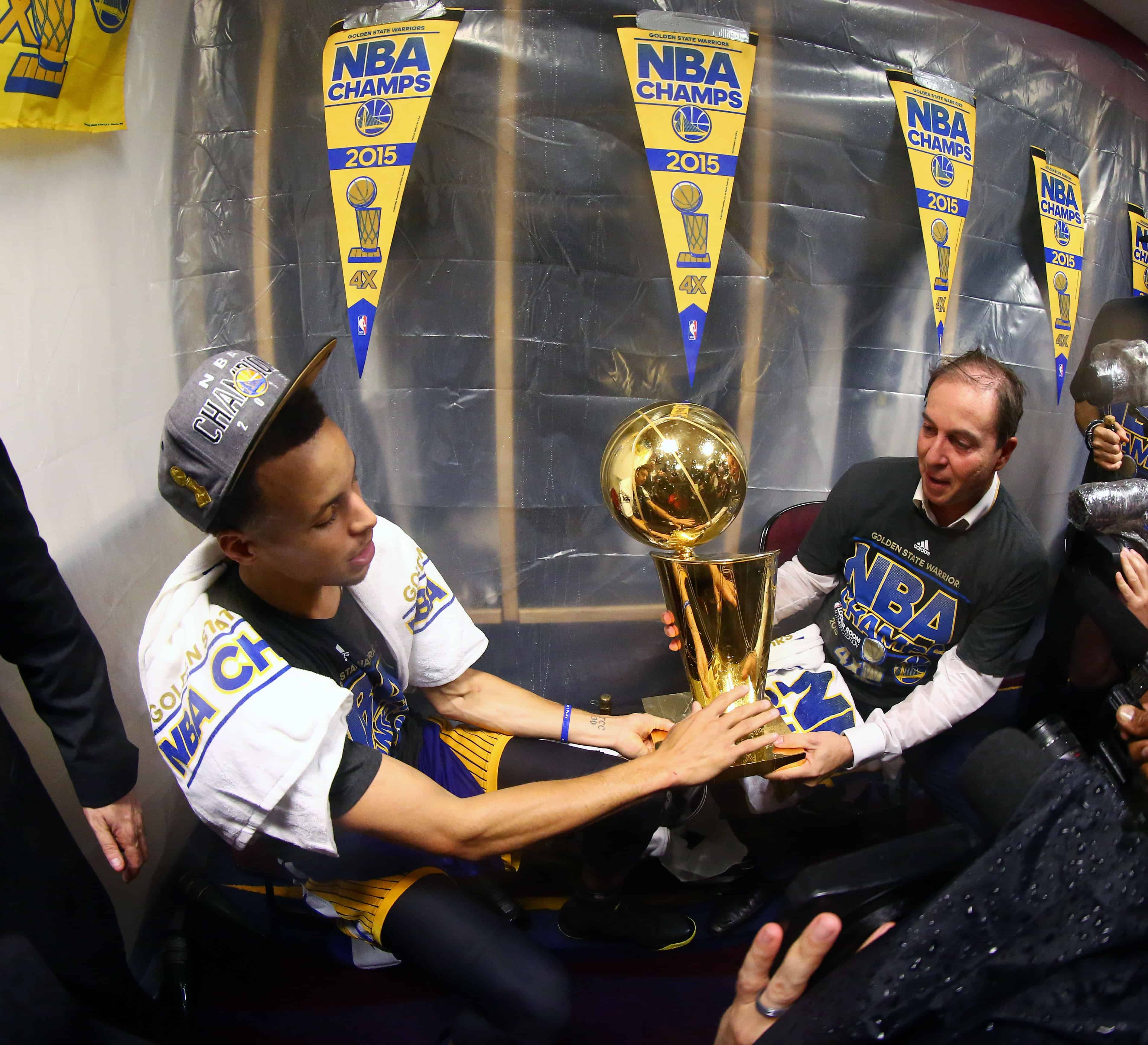 Warriors Year By Year: Stephen Curry Nba Finals Trophy