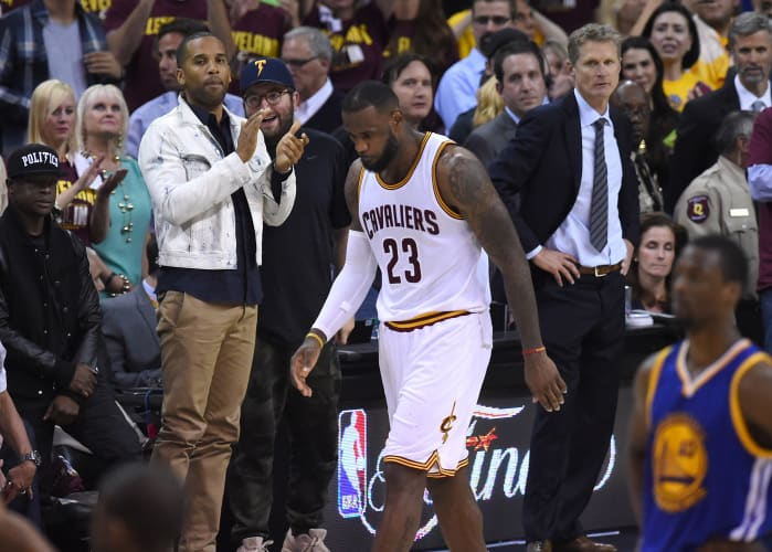 Cleveland Cavaliers' LeBron James walks off the court.