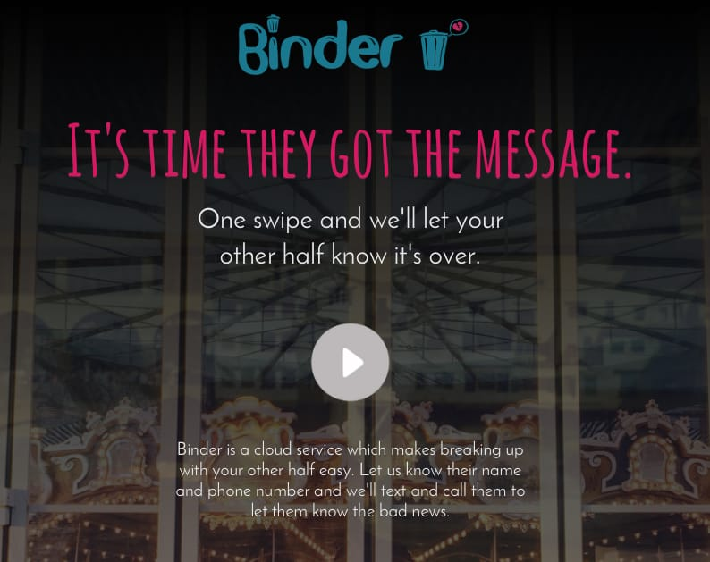 Screengrab from www.go-binder.com